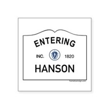 "Hanson Square Sticker 3"" x 3"""