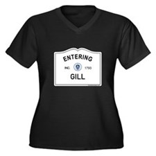 Gill Women's Plus Size V-Neck Dark T-Shirt