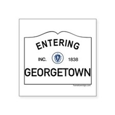 "Georgetown Square Sticker 3"" x 3"""