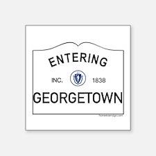 "Georgetown Square Sticker 3"" x 3"""