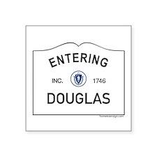 "Douglas Square Sticker 3"" x 3"""