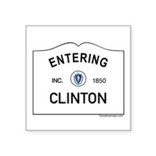 "Clinton Square Sticker 3"" x 3"""