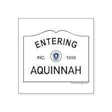 "Aquinnah Square Sticker 3"" x 3"""