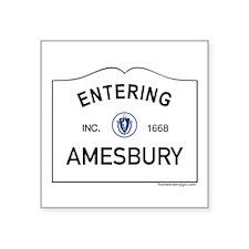 """Amesbury Square Sticker 3"""" x 3"""""""