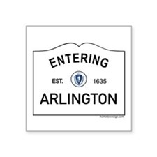 "Arlington Square Sticker 3"" x 3"""