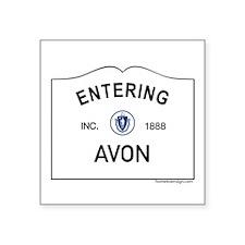 "Avon Square Sticker 3"" x 3"""