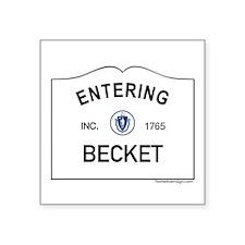 "Becket Square Sticker 3"" x 3"""