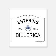 """Billerica Square Sticker 3"""" x 3"""""""