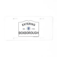 Boxborough Aluminum License Plate