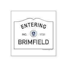 """Brimfield Square Sticker 3"""" x 3"""""""