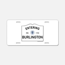 Burlington Aluminum License Plate