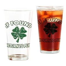If found return to pub Drinking Glass