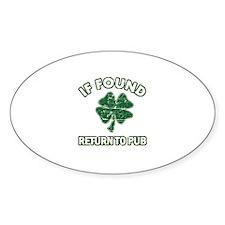 If found return to pub Decal