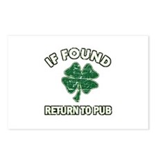 If found return to pub Postcards (Package of 8)