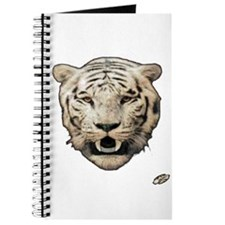 white tiger face art illustration Journal