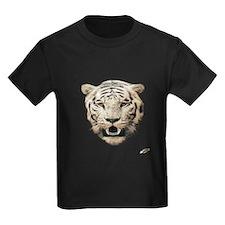 white tiger face art illustration T-Shirt