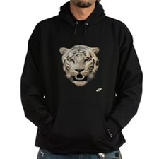 white tiger face art illustration Hoodie