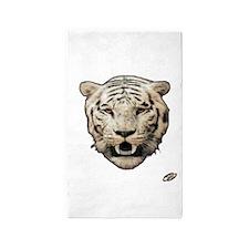 white tiger face art illustration 3'x5' Area Rug