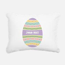 Your Text Easter Egg Rectangular Canvas Pillow