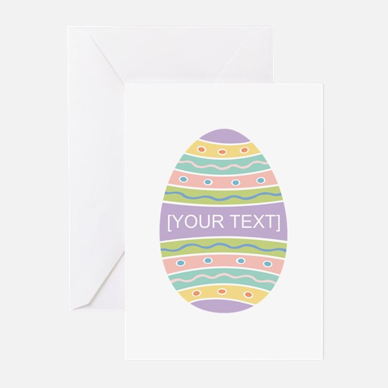 Your Text Easter Egg Greeting Cards (Pk of 10)