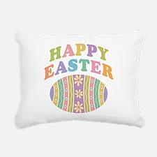 Happy Easter Egg Rectangular Canvas Pillow