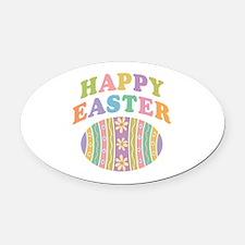 Happy Easter Egg Oval Car Magnet