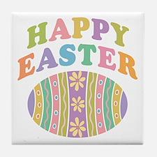 Happy Easter Egg Tile Coaster