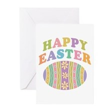 Happy Easter Egg Greeting Cards (Pk of 20)