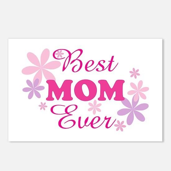 Best Mom Ever fl 1.1 Postcards (Package of 8)