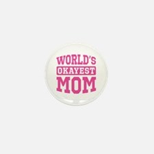 World's Okayest Mom [pink] Mini Button (100 pack)