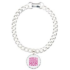 World's Okayest Mom [pink] Bracelet