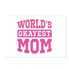 World's Okayest Mom [pink] Postcards (Package of 8