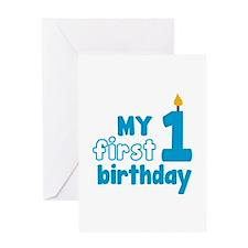 First Birthday Greeting Card