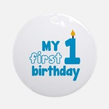 First Birthday Ornament (Round)