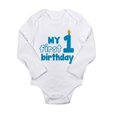 First Birthday Long Sleeve Infant Bodysuit