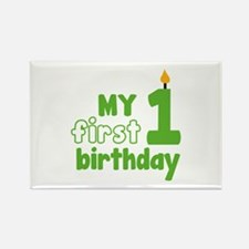 First Birthday Rectangle Magnet