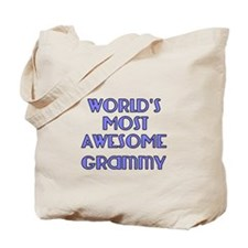 Worlds Most Awesome Grammy Tote Bag
