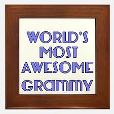 Worlds Most Awesome Grammy Framed Tile