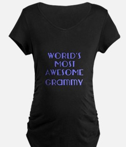 Worlds Most Awesome Grammy Maternity T-Shirt