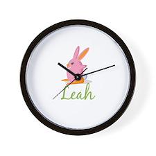 Easter Bunny Leah Wall Clock