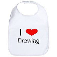 I Heart Drawing Bib