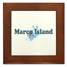 Marco Island - Beach Design. Framed Tile