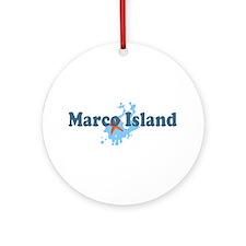 Marco Island - Beach Design. Ornament (Round)
