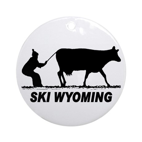 The Ski Wyoming Shop Ornament (Round)