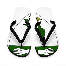 Eva Perrin Badge Flip Flops