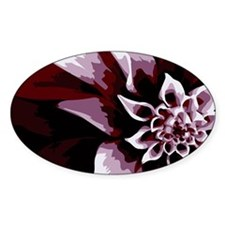 Deep Purple Flower Decal