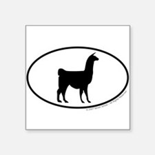 Llama Euro Oval Sticker