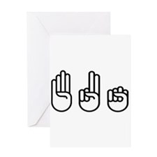 420 fingers Greeting Card