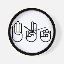 420 fingers Wall Clock