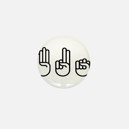 420 fingers Mini Button (10 pack)